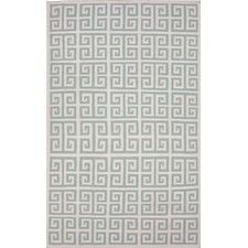 Urban Bungalow Blue Geometric Area Rug