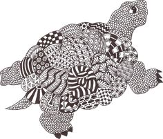 Turtle Zentangle by Mariska den Boer 06