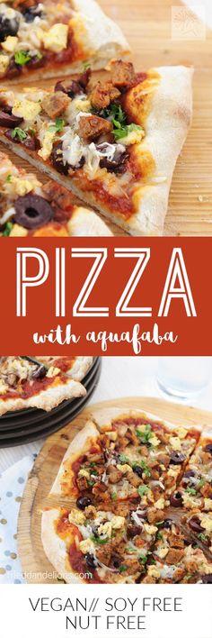 fried dandelions // pizza with aquafaba