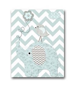 Elephant Nursery Baby Boy Nursery Art Nursery wall by artbynataera, $14.00