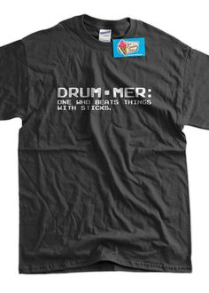 Definition of a Drummer Screen Printed TShirt Mens by IceCreamTees, $14.99