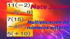 Como desarrollar los ejercicios de multiplicación o producto de números enteros.