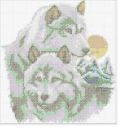 Image result for wolves for plastic canvas