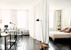 How to plan and zone the room combining living and sleeping areas. Watch photos at our website