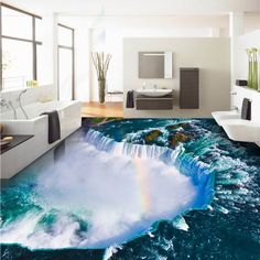 See related links to what you are looking for. 3d Flooring, Kitchen Flooring, Fall Living Room, Cheap Wallpaper, Home Improvement, Study, Adhesive, Bedroom, Ocean Room