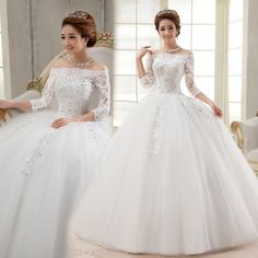 Free Shipping Autumn and winter princess slit neckline New 2014 lace vintage wedding dress formal dress US $156.30