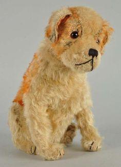"Steiff's Pre-War Sitting St. Bernhard Dog with IDs.  11.75"".  1927-1933.  Morphy auction."