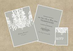Printable Wedding Invitation  DIY Digital by HowieandIce on Etsy, £35.00