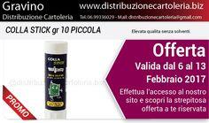 OFFERTA VALIDA DAL 6 AL 13 FEBBRAIO Consegna in tutta Italia Per vedere i prezzi clicca qui: http://shop.distribuzionecartoleria.biz/specials.html
