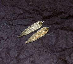 Harvest Earrings  Wheat Earrings  Corn Earrings  by spaceweaver