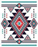 Navajo Aztec big pattern vector illustration