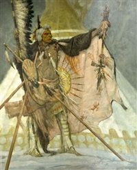 Legend of the snow teepee by Kenneth Riley kp