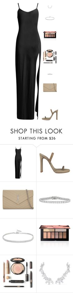 """""""Untitled #5258"""" by mdmsb on Polyvore featuring Boohoo, Yves Saint Laurent, Kenneth Jay Lane and Smashbox"""