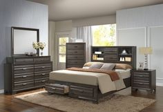 Slater Queen Storage Bed by Lifestyle