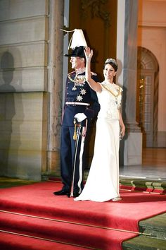 Princess Marie arriving at the annual New Years Banquet at Amalienborg Palace