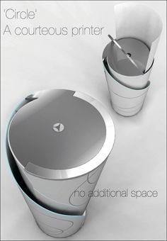 くるくると紙をローリングしながら排紙する筒型省スペースプリンター「Circle」 - GIGAZINE