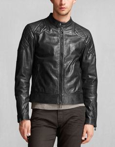 The jacket worn by David Beckham in his film, Outlaw, this black leather biker is an icon of cool, moto style. Shop the Outlaw jacket from Belstaff UK. Belstaff Leather Jacket, Belstaff Jackets, Lambskin Leather Jacket, Stylish Jackets, Stylish Men, Best Leather Jackets, Jacket Style, Jacket Men, Mens Fashion