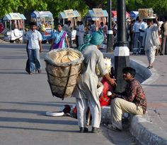Bread seller in India