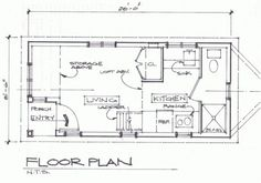 Floorplan Of 8 5 X 20 Tiny House By Todd Miller Looks A Trailer Planshouse