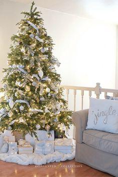 Cozy white Christmas throw pillows