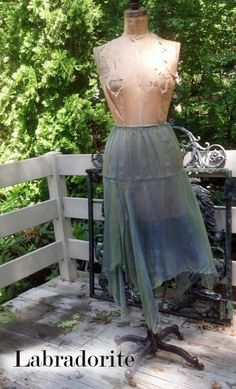 Windrush Skirt — Simple layer of washed silk with dropped waist and unfinished hem