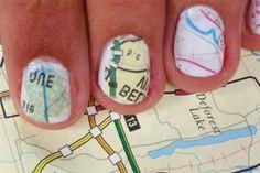 DIY Map Nails