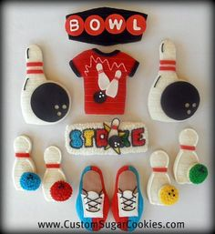 Bowling Cookies! | Some bowling cookies I made for a birthda… | Flickr