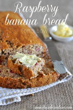 One bowl raspberry banana bread