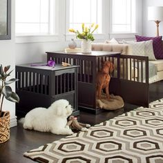 Buy New Majestic Pets Black Collapsible Plastic And Wire Pet Crate Cage Dog Supplies at online store Dog Crate Furniture, Black Furniture, Wooden Furniture, Furniture Deals, Online Furniture, Dog Crate End Table, Cage, Puppy Crate, Crate Cover