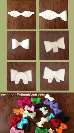 wool blend felt bows template