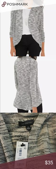 NWT sweater XS by The Limited. marled gray NWT size XS sweater. Model photos are stock photos. Others are of actual item. The Limited Sweaters