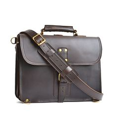 NEW DESIGN Thin Briefcases - Mens Full Grain Leather Briefcase, Leather Briefcase, Womens Leather Briefcase, Leather Messenger Bag, Satchel