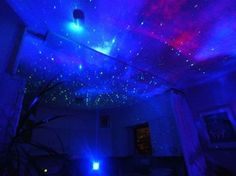 39 Impossibly Trippy Products You Need In Your Home An Indoor Light Show. Hippy Room, Hippie Room Decor, Boho Decor, Black Light Room, Feng Shui, Chandeliers, Galaxy Room, Hangout Room, Mood Light