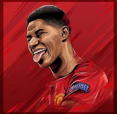 Football And Basketball, Football Players, Manchester United Wallpapers Iphone, Soccer Drawing, Marcus Rashford, Manchester United Football, Football Wallpaper, Football Pictures, Man United