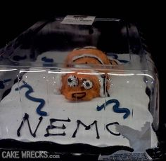 it looks like nemo is crawling on a beach, dying or something