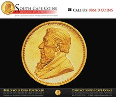 In 1898 President Kruger allowed Samuel Marks, a mining magnate, the run of the mint for the day in appreciation of services rendered to the Republic of South Africa. Sell Coins, Coin Dealers, Rare Coins, The Republic, Coin Collecting, South Africa, Appreciation, Mint, History