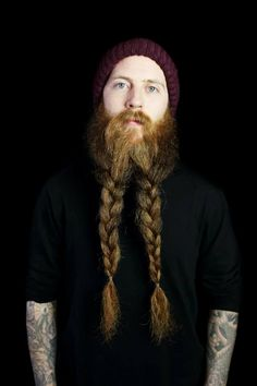 Here's how to be a bearded badass - be like this fella :D Those braids!