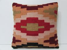 orange pillow 18x18 pillow cover red pillow by DECOLICKILIMPILLOWS