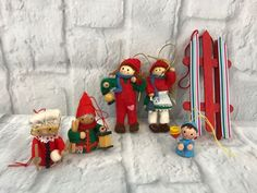 Lot Of 6 Wooden Christmas Ornaments Collectibles Gift   Collectibles, Holiday & Seasonal, Christmas: Modern (1946-90)   eBay!