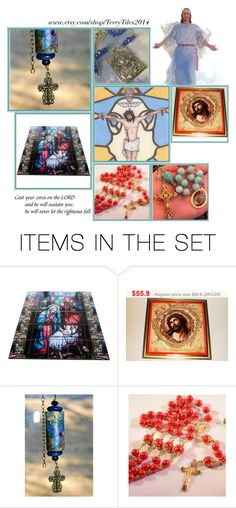 Religious Art on Etsy by TerryTiles2014 - Volume 152 by terrytiles2014 on Polyvore featuring arte, etsy, art, catholic and religious