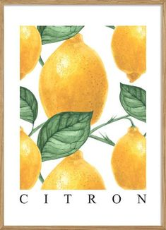 Posterstore – plakkaat Yellow Background, Background Patterns, Vector Pattern, Pattern Design, Food Patterns, Fruit Pattern, Tropical Fruits, Summer Patterns, Summer Fruit