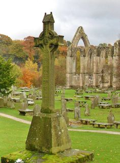 Ornamental Cross at the Ruins of Bolton Abbey, Yorkshire Dales, England (All Original Photography by vwcampervan-aldridge.tumblr.com)