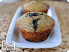 melskitchencafe.com: Healthy Banana Blueberry Muffins