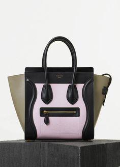 celine tote bag for sale - Celine Black Leather and White Crocodile Medium Luggage Tote Handbag