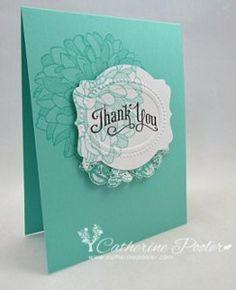 Delicate Doily Thank You Cards | AllFreePaperCrafts.com