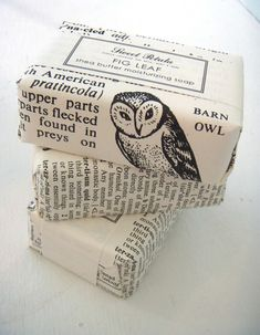 I think I will look for some old books at thrift stores to wrap soap in. Great idea.