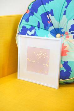 DIY Gold Leaf Splatter Art