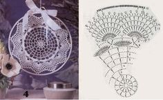 Zawieszki do okien - TitinaKrkM - Picasa Web Albums Crochet Diagram, Crochet Motif, Crochet Doilies, Crochet Lace, Thread Crochet, Crochet Stitches, Crochet Hooks, Doily Dream Catchers, Dream Catcher Boho
