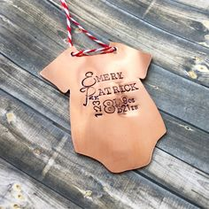 Baby tats ornament by DreamWillowStudio on etsy