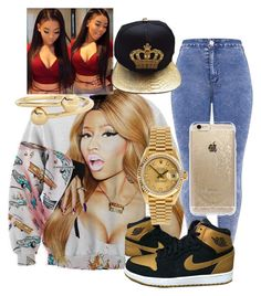 """💦💦💦"" by lilshawtyt on Polyvore featuring beauty, Nicki Minaj, Rolex, J.W. Anderson and Rifle Paper Co"